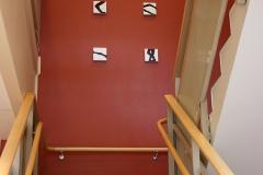 Positioner, Midgårdskolan., Varje emalj 15 x 15 X 3 cm